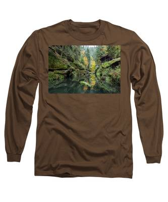 Autumn In The Kamnitz Gorge Long Sleeve T-Shirt
