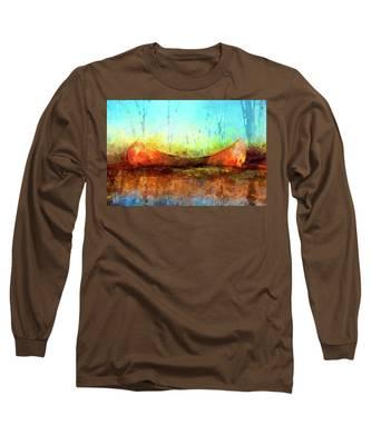 Birch Bark Canoe Long Sleeve T-Shirt