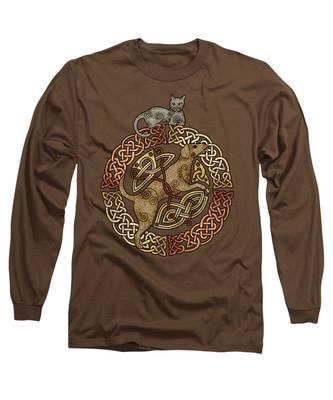 Celtic Cat And Dog Long Sleeve T-Shirt