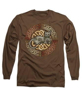 Celtic Cat Long Sleeve T-Shirt