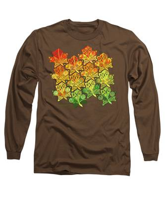 Celtic Leaf Transformation Long Sleeve T-Shirt