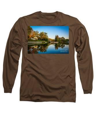 Centerport Harbor Autumn Colors Long Sleeve T-Shirt
