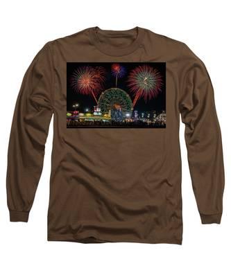 Coney Island At Night Fantasy Long Sleeve T-Shirt