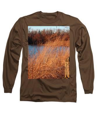 Amber Brush On The River Long Sleeve T-Shirt