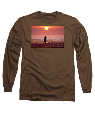 Llangennith Fishing At Sundown Long Sleeve T-Shirt