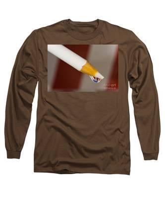 Pencil Flag Drop Long Sleeve T-Shirt