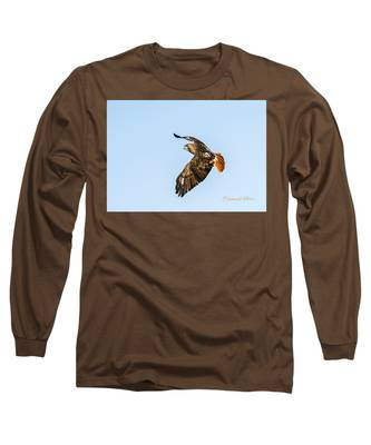 Red-tail Hawk In Flight Long Sleeve T-Shirt