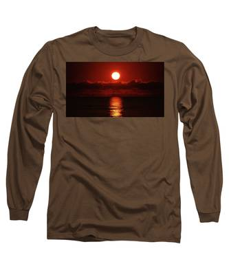 Sunrise Spotlight Delray Beach Florida Long Sleeve T-Shirt