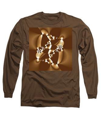 White And Milk Chocolate Fractal Long Sleeve T-Shirt