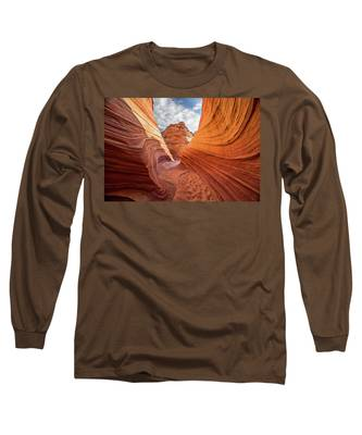 Winding Stripes Of Sandstone Long Sleeve T-Shirt