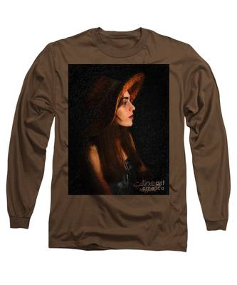 Girl In Hat Long Sleeve T-Shirt