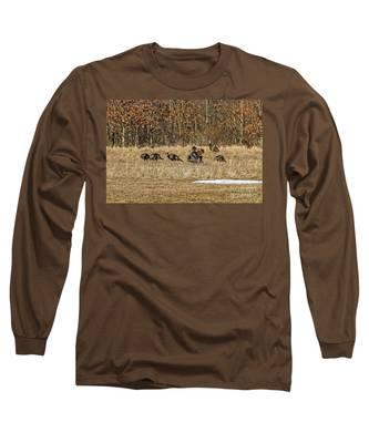 Rafter Of Wild Turkeys Long Sleeve T-Shirt