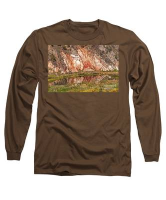 Vibrant Reflections On A Calm Pond Long Sleeve T-Shirt