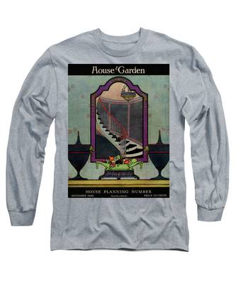 A House And Garden Cover Of A Staircase Long Sleeve T-Shirt