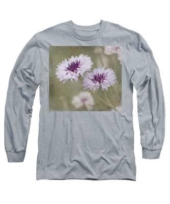Bachelor Buttons - Flowers Long Sleeve T-Shirt