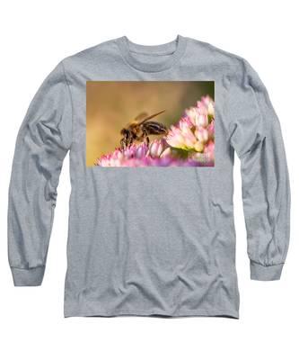 Bee Sitting On Flower Long Sleeve T-Shirt