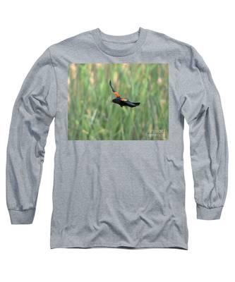 Red Winged Blackbird Long Sleeve T-Shirts