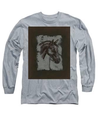 Horse Portrait Long Sleeve T-Shirt