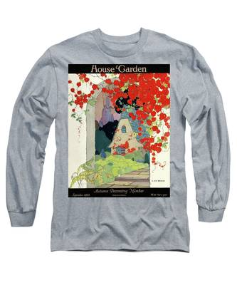 House And Garden Autumn Decorating Number Long Sleeve T-Shirt