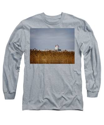 jewel of the Port Lorain Lighthouse Long Sleeve T-Shirt