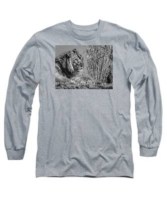 Watching Intently Long Sleeve T-Shirt