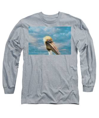 My Better Side - Florida Brown Pelican Long Sleeve T-Shirt