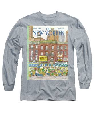 New Yorker July 18th, 1983 Long Sleeve T-Shirt