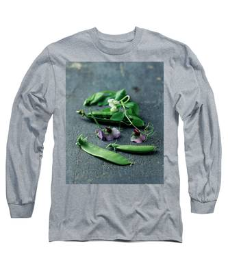 Pea Pods And Flowers Long Sleeve T-Shirt