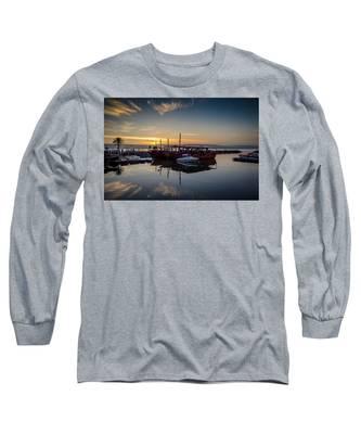 Sunrise Over The Sea Of Galilee Long Sleeve T-Shirt