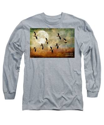 The Flight Of The Snow Geese Long Sleeve T-Shirt