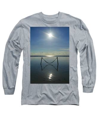 Long Sleeve T-Shirt featuring the photograph Tres Luces by Skip Hunt
