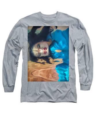 Underwater Geisha Abstract 1 Long Sleeve T-Shirt