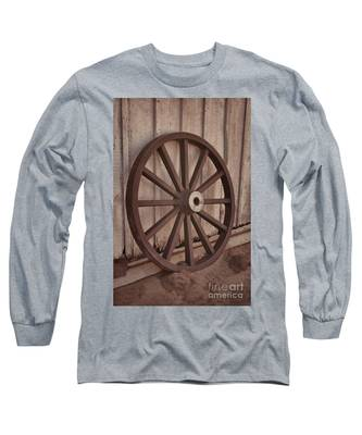 An Old Wagon Wheel Long Sleeve T-Shirt