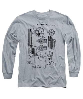1875 Colt Peacemaker Revolver Patent Vintage Long Sleeve T-Shirt