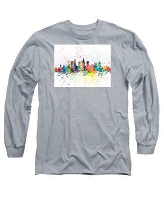 Atlanta Georgia Skyline Long Sleeve T-Shirt