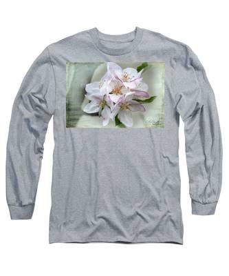 Apple Blossoms From My Hepburn Garden Long Sleeve T-Shirt