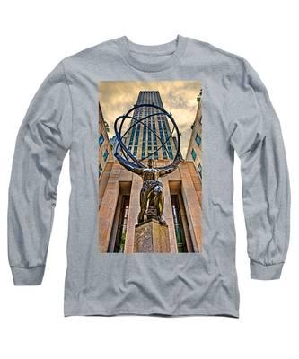 Atlas At The Rock Long Sleeve T-Shirt