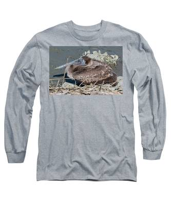 Brown Pelican 3 March 2018 Long Sleeve T-Shirt