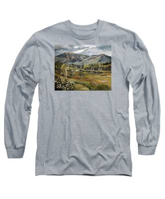 Cannon Mountain From Sugar Hill New Hampshire Long Sleeve T-Shirt