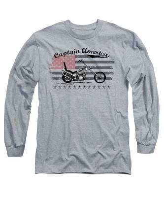 Captain America Long Sleeve T-Shirts