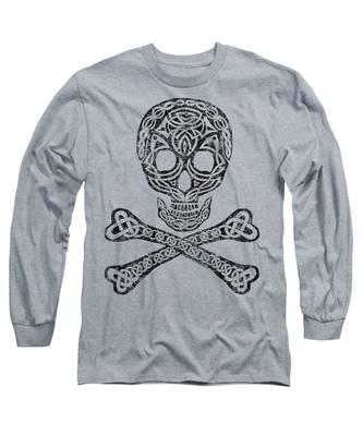 Celtic Skull And Crossbones Long Sleeve T-Shirt