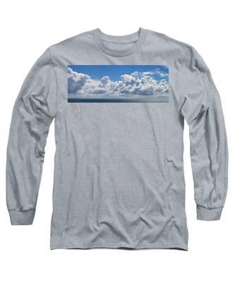 Clouds Over Catalina Island - Panorama Long Sleeve T-Shirt