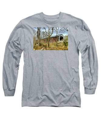 Cox Ford Covered Bridge Long Sleeve T-Shirt