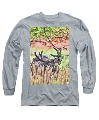 Deer In The Orchard Long Sleeve T-Shirt