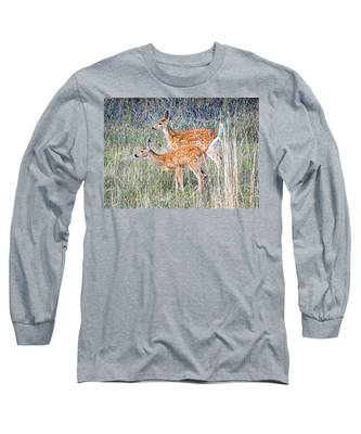 Fawns At Bigfork Long Sleeve T-Shirt