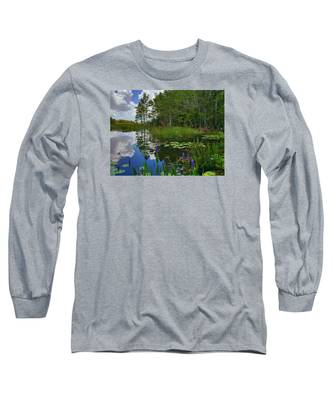 Florida Wetlands Reflections Long Sleeve T-Shirt