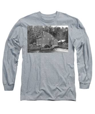 Gray Autumn At The Old Mill In Clinton Long Sleeve T-Shirt