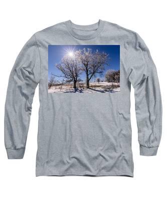 Ice Coated Trees Long Sleeve T-Shirt
