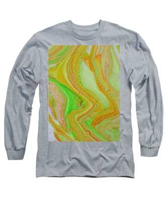 Long Sleeve T-Shirt featuring the painting Lava Sunshine by Vicki Winchester