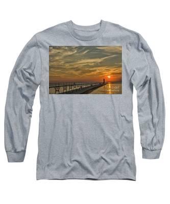 Manistee North Pierhead Lighthouse Long Sleeve T-Shirt